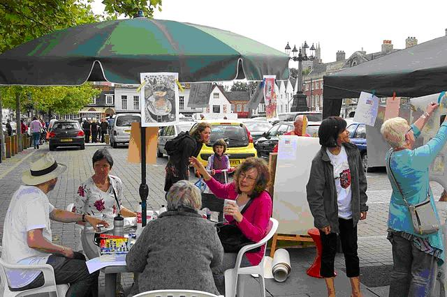 The Community Cafe Listeners on the Market Square
